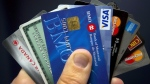 Credit cards are displayed in Montreal, Wednesday, December 12, 2012. (Ryan Remiorz/THE CANADIAN PRESS)