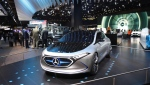 A look at vehicles on the floor of the North American International Auto Show in Detroit, on Jan. 15, 2018. (Melanie Borrelli / CTV Windsor)