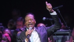 FILE - In this June 10, 2014 file photo, Edwin Hawkins appears at the Apollo Theater Spring Gala and 80th Anniversary Celebration in New York. (Photo by Brad Barket/Invision/AP, File)