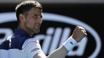 Novak Djokovic at the Australian Open tennis championships, on Jan. 16, 2018. (Dita Alangkara / AP)