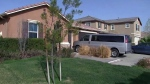 The exterior of the home where police arrested a couple accused of holding their 13 children captive, in Perris, east of Los Angeles, Calif. (KABC-TV via AP)