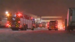 No injuries were reported following an ammonia leak at a building in a southeast industrial park on Monday night.