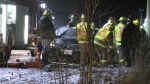 A single-vehicle crash on St. Charles St. near Maryhill left a girl trapped in her vehicle for 40 minutes.