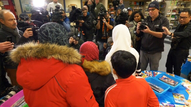An 11-year-old girl and her family speak to reporters at Pauline Johnson Public School in Scarborough on Friday, Jan. 12, 2018.