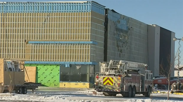 The wall of the theatre had to be torn down after the fire so investigators could get in and assess the damage.