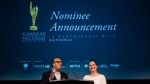 Martin Katz, and Beth Janson of the Academy of Canadian Cinema and Television speak at the nominations event for the film, television and digital media categories for the 2018 Canadian Screen Awards in Toronto on Tuesday, January 16, 2018. THE CANADIAN PRESS/Christopher Katsarov