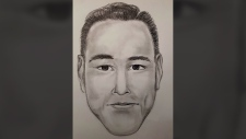 A composite sketch based on descriptions provided by victims shows a suspect in a pair of thefts in Surrey. (RCMP)