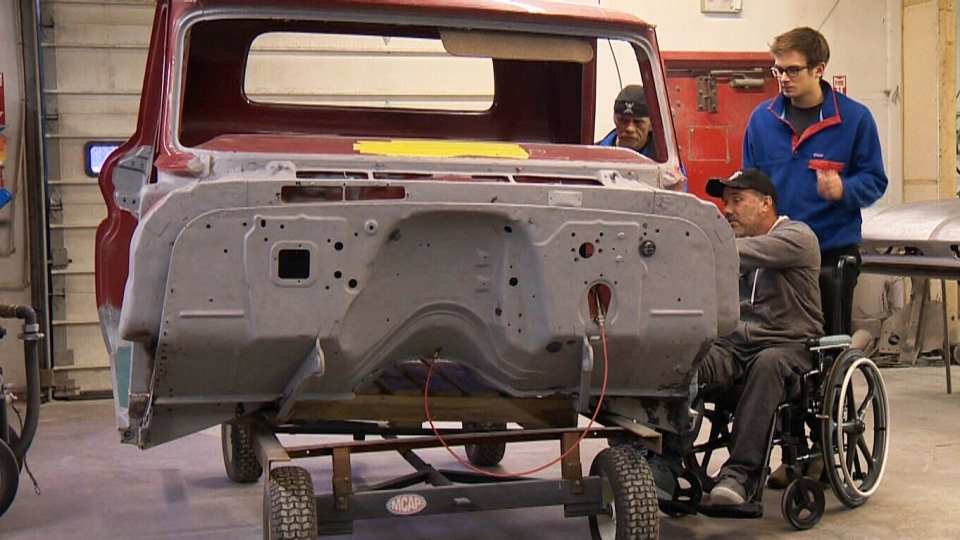 N.S. auto body shop rebuilding special truck for man with terminal ...