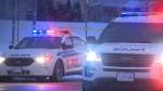 Ottawa Police vehicles at the scene of a crime in January 2018.  (CTV Ottawa)