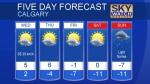 Calgary forecast January 16, 2018