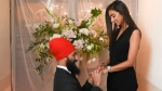 Jagmeet Singh and Gurkiran Kaur are seen after their engagement in this photo he posted to Twitter on Tuesday. (Twitter / Jagmeet Singh)