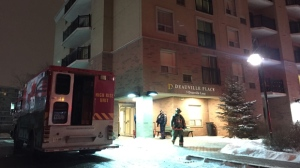 Police were called to the scene of a Flemingdon Park seniors' residence after high levels of carbon monoxide were detected. (Mike Nguyen/ CP24)