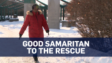 A Good Samaritan rescued elderly woman wandering the streets of Ottawa in the cold.