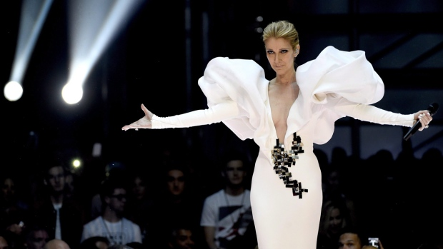 Celine Dion performs in Las Vegas on May 21, 2017. (Chris Pizzello / Invision / AP / THE CANADIAN PRESS)