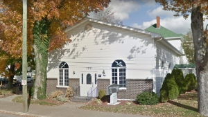Serenity Funeral Home in Berwick, Nova Scotia. (source: Google Maps)