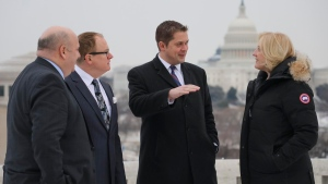 Conservative Leader Andrew Scheer is in Washington with several Conservative MPs for meetings with the U.S. (Andrew Scheer / Twitter)
