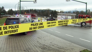 A teenage pedestrian died of injuries after being struck by a vehicle in Burnaby Wednesday, Jan. 17, 2017.