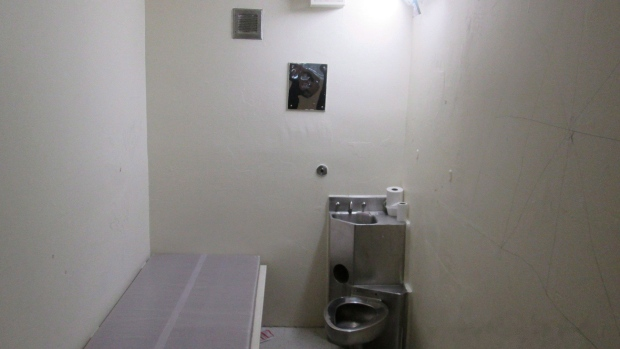 A solitary confinement cell is shown in a undated handout photo from the Office of the Correctional Investigator. THE CANADIAN PRESS/HO- Office of the Correctional Investigator