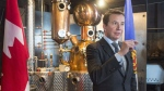Treasury Board President Scott Brison announces government funding to assist Ironworks Distillery Inc. as they expand their micro-distillery in Lunenburg, N.S. on Wednesday, Jan.17, 2018. The boutique industry is flourishing in Nova Scotia and throughout Atlantic Canada. (Andrew Vaughan/THE CANADIAN PRESS)