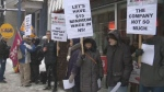 Minimum wage protest in Halifax, N.S.