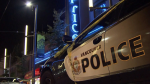 Police respond to a fight outside Caprice nightclub in downtown Vancouver on Aug. 11, 2016. A 28-year-old victim later died of her injuries.