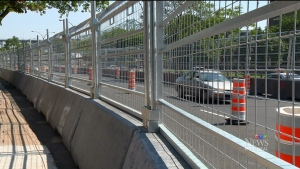 CTV Montreal: Concrete barriers