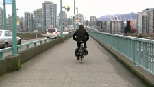 Cambie Bridge bike lane