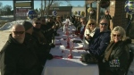 Outdoor lunch in January