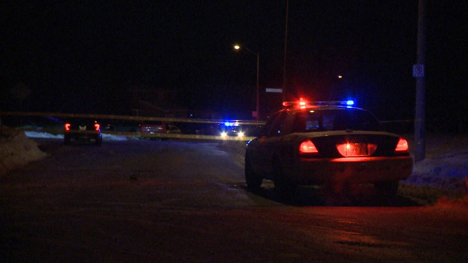 Police say a pedestrian died after being struck by a vehicle in Bells Corners on Wednesday, Jan. 17, 2018. The driver is being investigated. (Caelan Benn/CTV Ottawa)