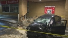 Police say a man will be charged with impaired driving after crashing his car into a Hamilton bank. (David Ritchie/ CP24)
