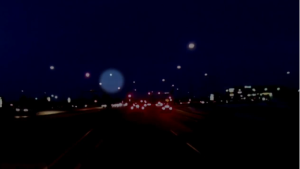 The fireball was captured on dashcam video north of Fort McMurray, Alta.