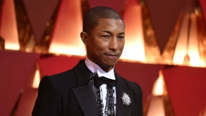 In this Feb. 26, 2017, file photo, Pharrell Williams arrives at the Oscars at the Dolby Theatre in Los Angeles. (Richard Shotwell/Invision/AP)