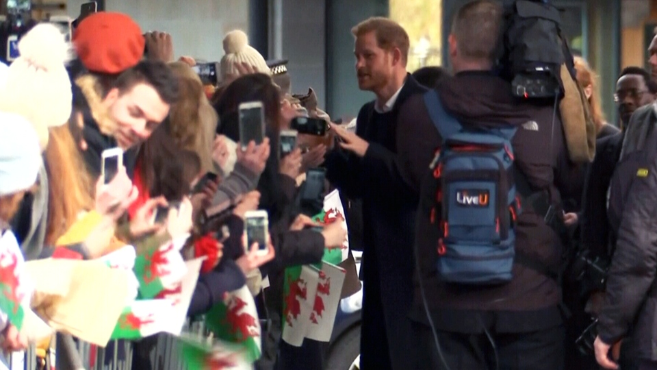 LIVE1: Prince Harry and Meghan Markle in Wales