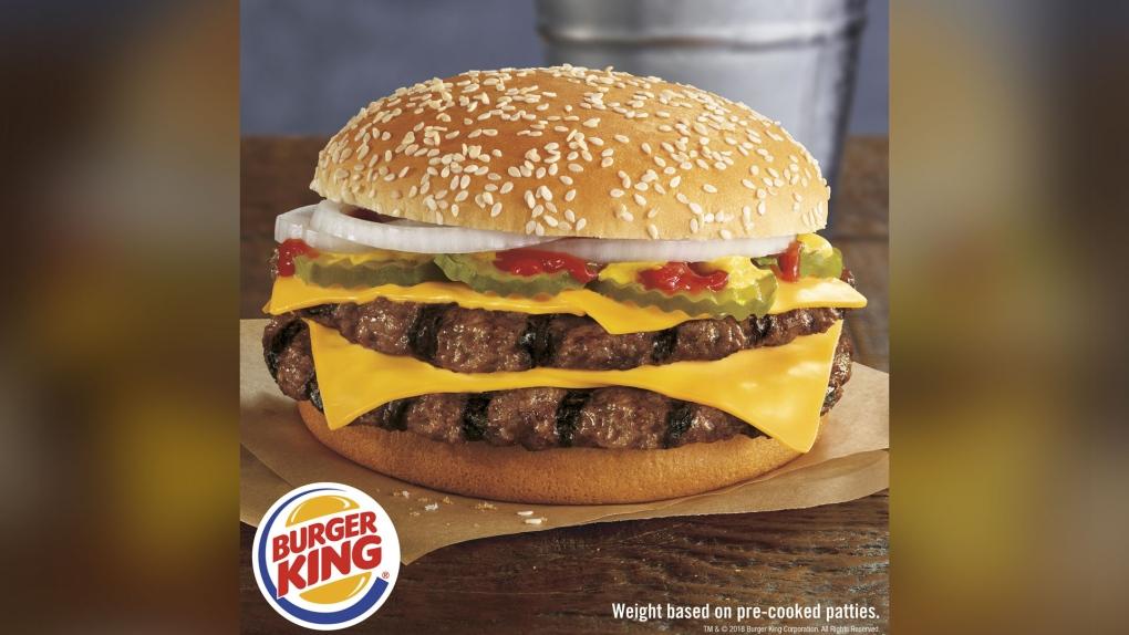 Burger King's new Double Quarter Pound King burger