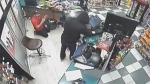 CCTV video of the assault on store clerk