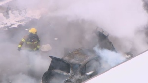 Car fire on Turcot