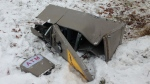 A passerby spotted an abandoned ATM in a ditch in Kitchener Jan. 18, 2018.