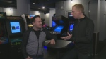 From CTV Kitchener's Marc Venema: Owner Che Curnew gives Marc a tour of Waterloo's new arcade bar Pin Up