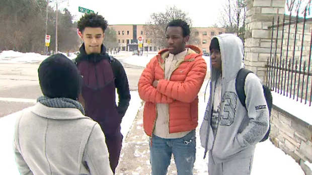 Students of Pine Ridge Secondary School speak to CTV News Toronto about helping stop a violent incident at their high school.