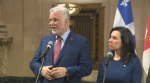 Premier Philippe Couillard and Mayor Valerie Plante held a meeting in Montreal.
