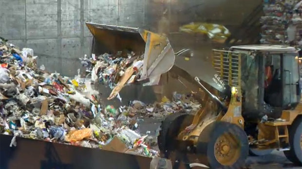 The sorting of recyclable materials at Cascade Recovery in Calgary