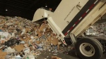 Recyclables pile up higher and higher