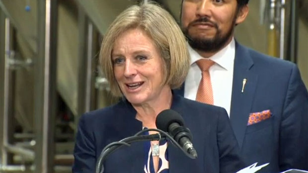 Premier Notley addressed the claims of an owner of the soon-to-be closed Bears Den following the groundbreaking ceremony at Minhas Micro Brewery on January 18