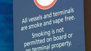 The new policy applies to the smoking of tobacco and any other substances, including the use of e-cigarettes. Jan. 18, 2018 (CTV Vancouver Island)