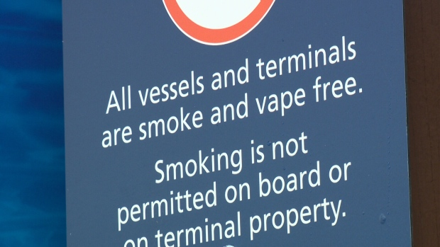 Ferries now a no-smoking zone