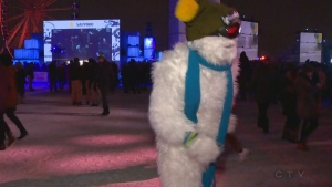 This yeti was dancing to DJ Kaytranada at Igloofest on Thursday Jan. 18, 2018
