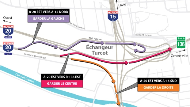 Turcot, new route