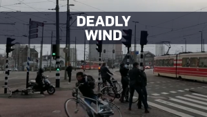 Deadly wind sweeps people off their feet in Europe