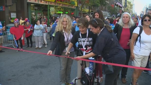 Evelyn Farha led the Ca Marche walkathon on Sept. 27, 2014