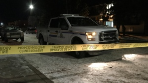 Red Deer RCMP on the scene of an incident early Friday, January 19, 2018 in the Riverside Meadows neighbourhood.